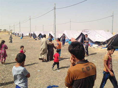 Baharka refugee camp, near Mosul, north Iraq