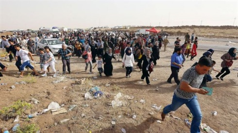 Refugees flee from northern Iraq