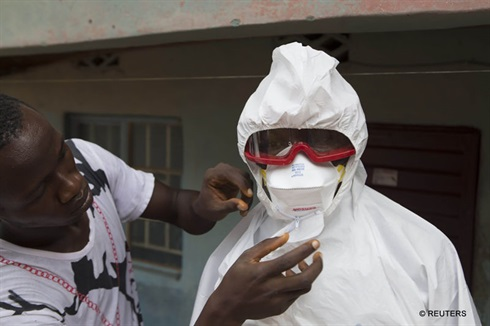 Ebola - wearing protective gear when dealing with patients