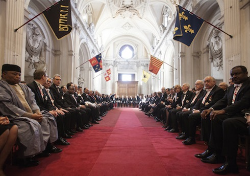 The Order's diplomatic corps at The annual address of The Grand Master, January 2015