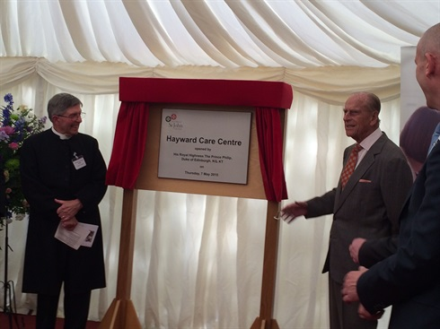 HRH the Duke of Edinburgh opens OSJCT Haycroft Care Centre, Devizes