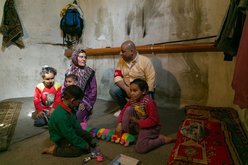 Syrian refugees in Order of Malta centre in Lebanon
