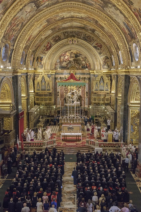 Victory celebrations, St John's Co-Cathedral, Valletta, Malta