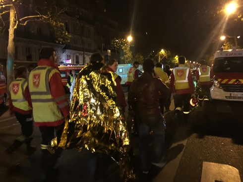 Bataclan - Ordre de Malte first aiders on site