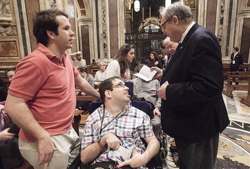 Grand Master greets OMV pilgrims, Santa Maria Maggiore