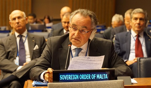 Grand Hospitaller contributes to the debate-UNGA Migration meeting