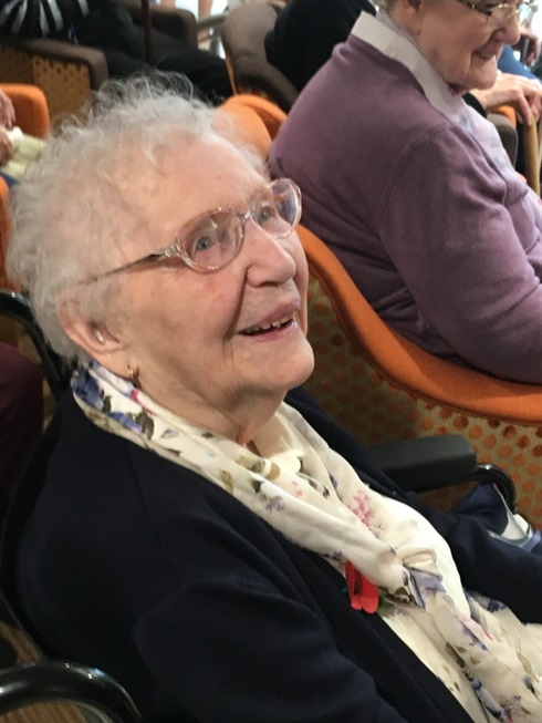 The Home's oldest resident: Peggy Dixon, 103