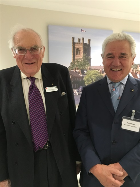 Two former OSJCT Chairmen: Nigel Stourton and Peter Loyd