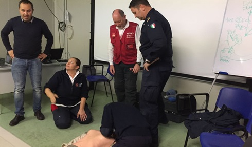 Order of Malta medicos train Libyan coast guard on the 'San Giorgio'