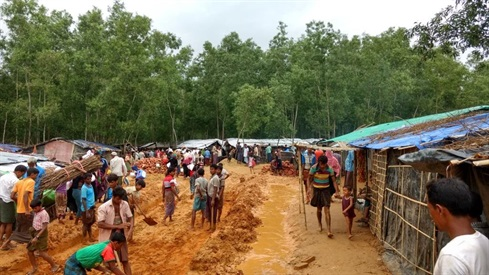 Bangladesh: a refugee camp for refugees from Myanmar