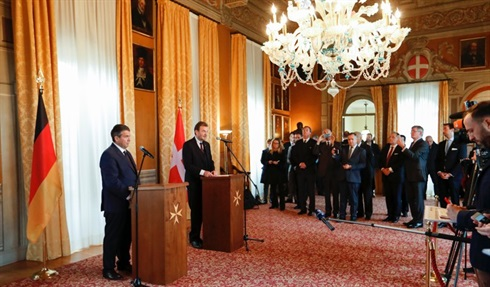 Official Visit of the German Foreign Minister Sigmar Gabriel, for the opening of diplomatic relations between germany and the Order of Malta
