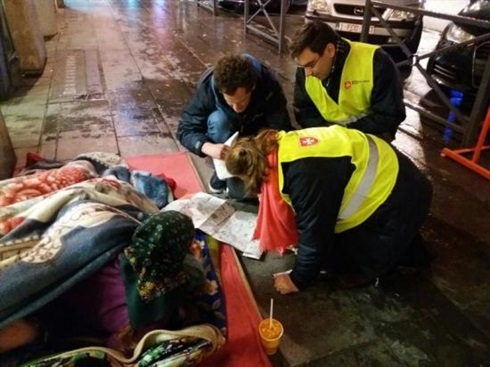 In Brussels-carIng for homeless In the cold