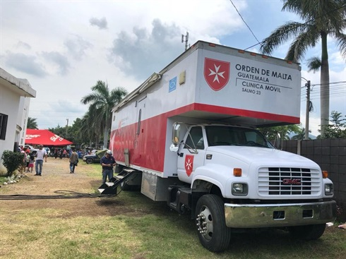 Guatemala volcano - the Order of Malta's mobile clinic