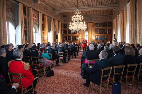 Grand Master Dalla Torre addresses the diplomatic corps accredited to the Sovereign Order of Malta
