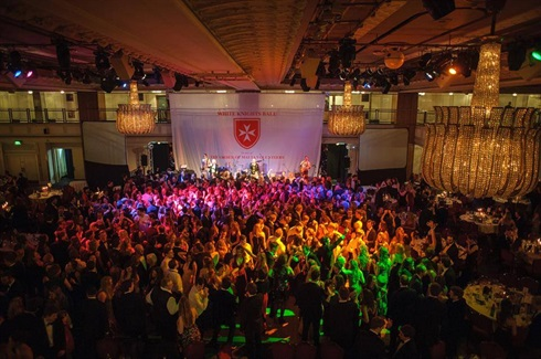 White Knights Ball, Grosvenor House London, organised by the OMV (Order of Malta Volunteers)