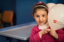 Small Syrian refugee now attends Malteser International-supported school in Turkey