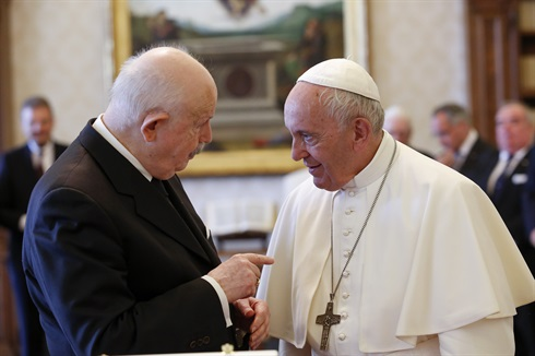 The Grand Master confers with Pope Francis