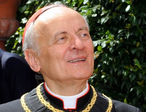 His Eminence Cardinal Sardi who has died today