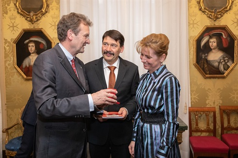 Grand Chancellor with the Hungarian Presidential couple