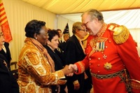 The Grand Master greets ambassadors