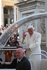 pope Benedict - last day