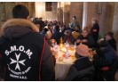 Tenth anniversary of Christmas soup kitchen for the homeless in the heart of Rome