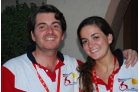 Carlos and Lucia Barandiaran, a brother and sister volunteer team: Carlos organises, Lucia runs the camp's daily newspaper