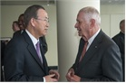 UN Secretary General Ban Ki-Moon and Ambassador Robert Shafer