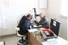 Eye check for Syrian refugee in Order of Malta clinic, Lebanon