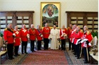 Pope Francis and senior members of the Order's government