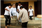 A rescue exercise for disabled in Vietnam