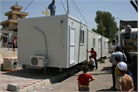 Erbil: a shipping container becomes a mobile medical unit