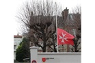 Ordre de Malte France flies at half mast, 9 January 2015