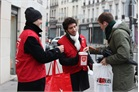 World Leprosy Day - collecting on the streets of Paris