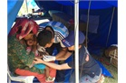 Nepal: Malteser International doctor provides medical care to small victim