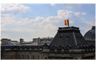 The Belgian flag flies at half mast