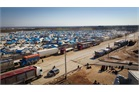 Refugee tents at the Syrian - Turkish border
