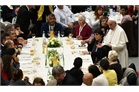 Pope Francis hosts lunch for 1,500 poor people in the Vatican