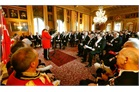 The Lieutenant of the Grand Master addresses the diplomatic corps