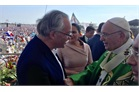 Panama World Youth Day Mass-Grand Hospitaller greets the Pope