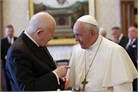 Grand Master Dalla Torre in audience with Pope Francis