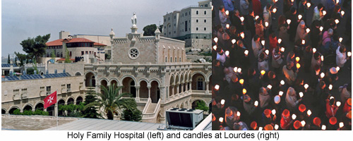 Hospital (left) and Lourdes 