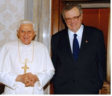 The Grand Master with the Holy Father.