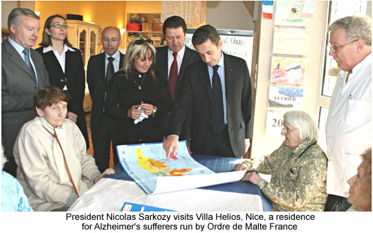 French President visits Villa Helios in Nice.