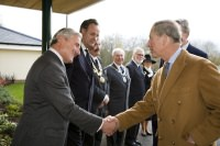 The Prince of Wales and the Chairman of the Trust, Peter Loyd