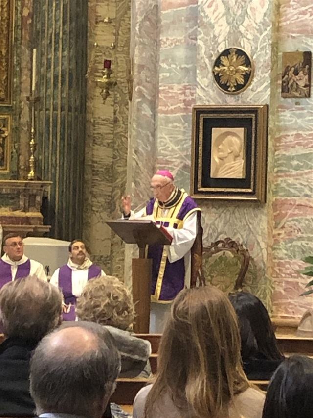 Archbishop Acerbi addresses the congregation