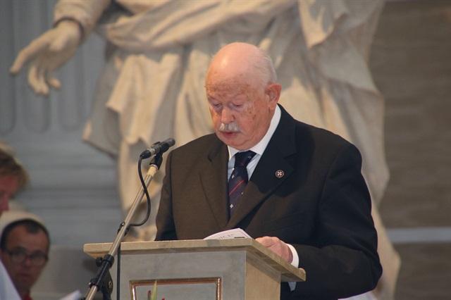 Grand Master Fra-Giacomo addresses the participants